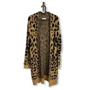 BP Nordstrom Cheetah Print Open Long Cardigan